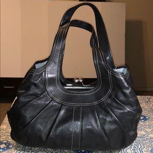 Coach Ergo Turnlock Pocket Leather Shoulder Bag